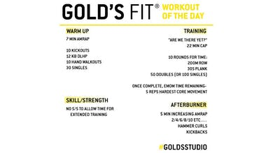 JUNE 5 - GOLD'S FIT by Gold's Gym Anywhere