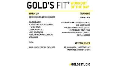 April 30 - GOLD'S FIT by Gold's Gym Anywhere