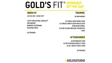 MAY 15 - GOLD'S FIT by Gold's Gym Anywhere
