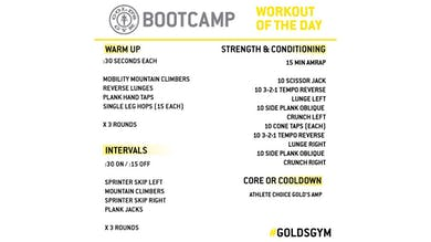 April 10 - BOOTCAMP by Gold's Gym Anywhere