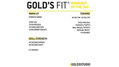 April 21 - GOLD'S FIT by Gold's Gym Anywhere