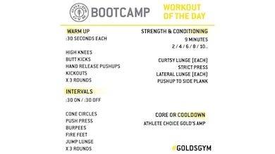 March 27 - BOOTCAMP by Gold's Gym Anywhere