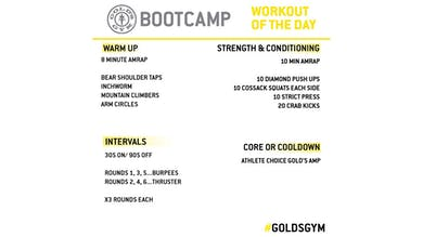 April 21 - BOOTCAMP by Gold's Gym Anywhere