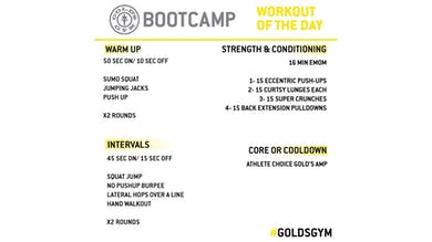 April 27 - BOOTCAMP by Gold's Gym Anywhere