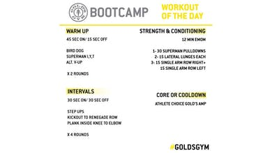 April 22 - BOOTCAMP by Gold's Gym Anywhere
