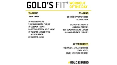 April 6 - GOLD'S FIT by Gold's Gym Anywhere