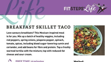 Breakfast Skillet Taco by FitSteps LTD