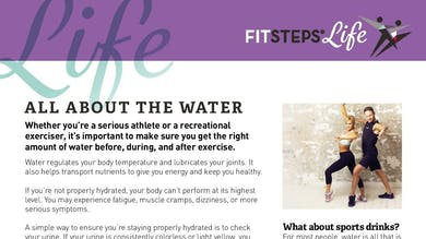 The Importance of Water by FitSteps LTD