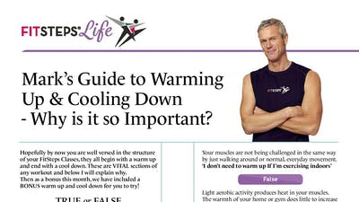 Marks Guide to Warming Up and Cooling Down by FitSteps LTD