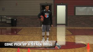 Instant Access to Cone Pick Up & Stack Drill by Smart Basketball Training, powered by Intelivideo