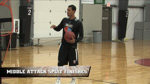 Middle Attack Split Finishes by Smart Basketball Training