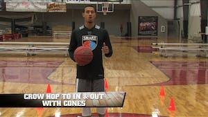 Instant Access to Crow Hop to In & Out with Cones by Smart Basketball Training, powered by Intelivideo