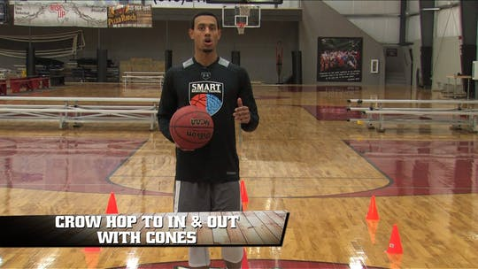 Crow Hop to In & Out with Cones by Smart Basketball Training