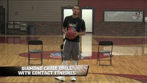 Diamond Chair Drill with Contact Finishes by Smart Basketball Training