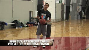Instant Access to Spin Out Rip Thru Finish with Contact by Smart Basketball Training, powered by Intelivideo