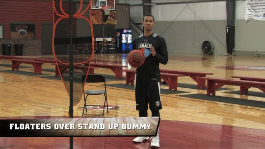 Floaters Over Stand Up Dummy by Smart Basketball Training