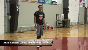 Instant Access to Wing-Corner Elbow-Elbow Wing-Corner by Smart Basketball Training, powered by Intelivideo