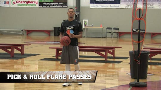 Pick and Roll Flare Passes by Smart Basketball Training