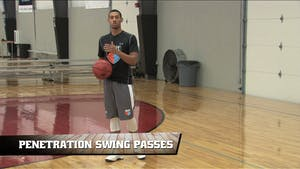 Instant Access to Penetration Swing Passes by Smart Basketball Training, powered by Intelivideo