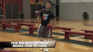 Instant Access to Pick and Roll One Hand Bounce Pass to Flare by Smart Basketball Training, powered by Intelivideo