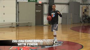 Instant Access to Zig-Zag Cone Drill with Finish by Smart Basketball Training, powered by Intelivideo