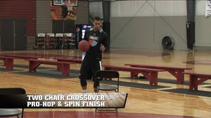 Instant Access to 2 Chair Crossover Pro-Hop & Spin Finish by Smart Basketball Training, powered by Intelivideo
