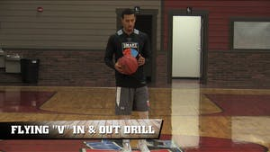 Instant Access to Flying V In & Out Drill by Smart Basketball Training, powered by Intelivideo