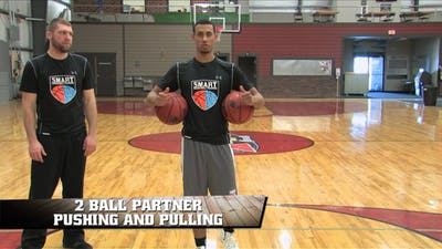 2 Ball Partner Pushing and Pulling by Smart Basketball Training