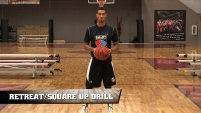 Instant Access to Retreat/Square Up Drill by Smart Basketball Training, powered by Intelivideo
