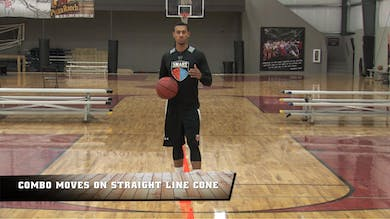 Combo Moves on Straight Line Cones by Smart Basketball Training