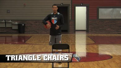 Triangle Chairs by Smart Basketball Training