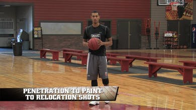 Penetration to Paint to Relocation Shots by Smart Basketball Training