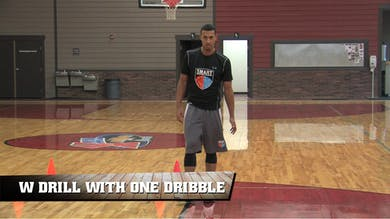 W Drill with One Dribble by Smart Basketball Training