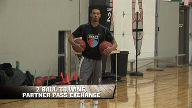 2 Ball to Wing Partner Pass Exchange by Smart Basketball Training