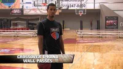Crossover 1 Hand Wall Passes by Smart Basketball Training