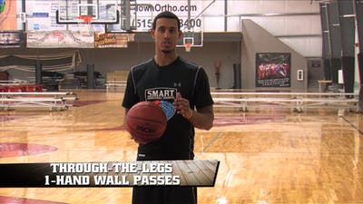 Through the Legs 1 Hand Wall Passes by Smart Basketball Training