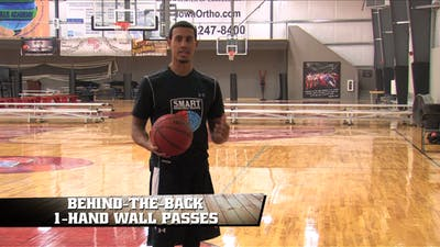 Behind the Back 1 Hand Wall Passes by Smart Basketball Training