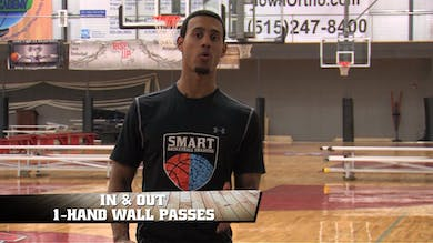 In & Out 1 Hand Wall Pass by Smart Basketball Training