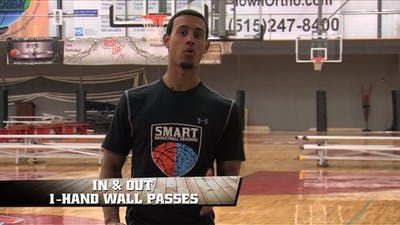 Instant Access to In & Out 1 Hand Wall Pass by Smart Basketball Training, powered by Intelivideo