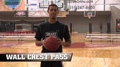 Wall Chest Pass by Smart Basketball Training