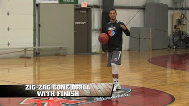 Zig-Zag Cone Drill with Finish by Smart Basketball Training