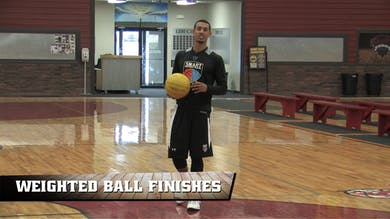 Weighted Ball Finishes by Smart Basketball Training