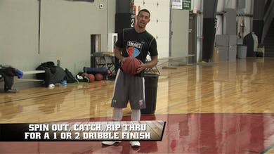 Spin Out Rip Thru Finish with Contact by Smart Basketball Training