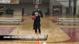 Instant Access to Combo Moves on Straight Line Cones by Smart Basketball Training, powered by Intelivideo