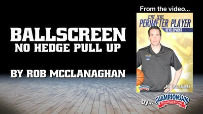 Instant Access to Ballscreen No Hedge Pull Up by Smart Basketball Training, powered by Intelivideo