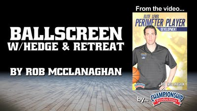 Instant Access to Ballscreen with Hedge & Retreat by Smart Basketball Training, powered by Intelivideo