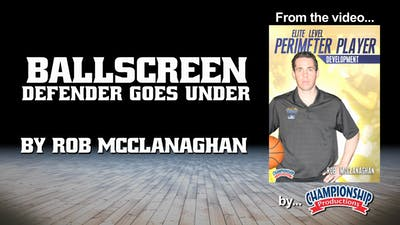 Instant Access to Ballscreen Defender Goes Under  by Smart Basketball Training, powered by Intelivideo