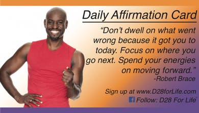 D28, Affirmation Card / Link to Online Community by Robert Brace