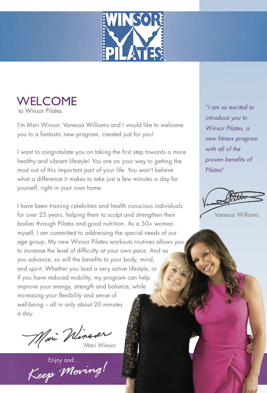 Welcome Letter by Winsor Pilates